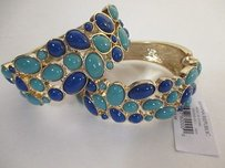 Banana Republic Banana Republic Blue Cabochon Gold Cuff Bracelet Set Of
