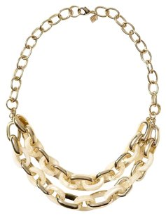 Banana Republic Banana Republic Cream Love Link Necklace