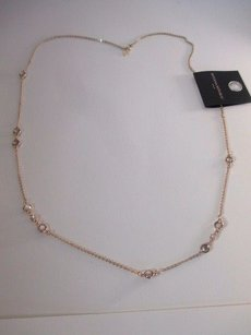 Banana Republic Banana Republic Gold Link Clear Stone Dainty Layering Necklace