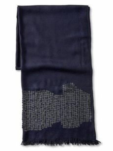 Banana Republic Banana Republic Navy Sequins Fringe Scarf
