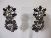 Banana Republic Banana Republic Smoke Crystal Cabochon Two Tier Earrings