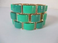 Banana Republic Banana Republic Tile Stretch Bracelet Green