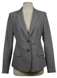 Banana Republic Banana Republic Womens Gray Speckled Blazer Wtw Long Sleeve Jacket