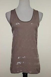 Banana Republic Womens Shirt Xsmall Cotton Blend Sleeveless Top Brown