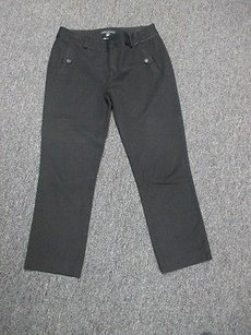 Banana Republic Viscose Blend Stretchy Casual Cropped Sm5399 Capri/Cropped Pants Black