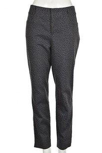 Banana Republic Jackson Fit Womens Gray Casual Animal Print Pants