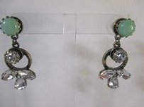 Banana Republic J.crew Teal Stone Crystal Antique Ring Earrings