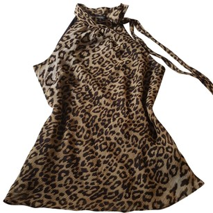 Banana Republic Leopard Animal Top Brown beige cheetah