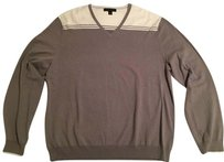 Banana Republic Mens Mens Preppy Mens Mens Vneck Mens Grey Sweater