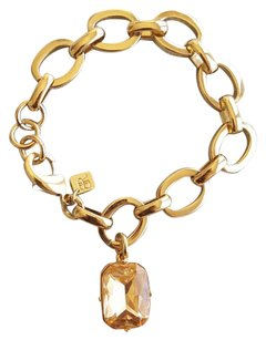 Banana Republic New without Tags Gold tone Bracelet with Jewel Charm