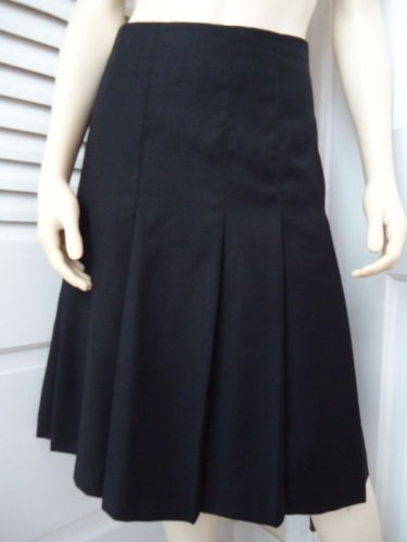 Women's Clothing Ingenious Ann Taylor Women's Size S Black Silk Pleated Skirt Clothing, Shoes & Accessories