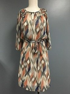 Banana Republic short dress Multi-Color 34 Sleeve Lined Tie Around Sheer Sma7895 on Tradesy