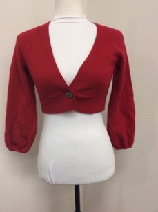 Banana Republic Cashmere Lambs Wool Shrug Short Long Sleeve Sweater