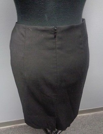 d2478748bb 30%OFF Banana Republic Black Polyester Blend Lined Pencil Skirt W Bow 0  Sm2306