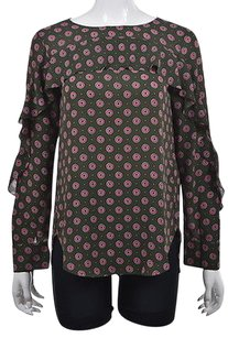 Banana Republic Womens Green Top Multi-Color