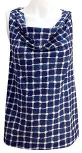 Banana Republic Womens And Beige Check Sleeveless Tunic