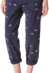 Band of Outsiders Straight Pants Blue/Multi