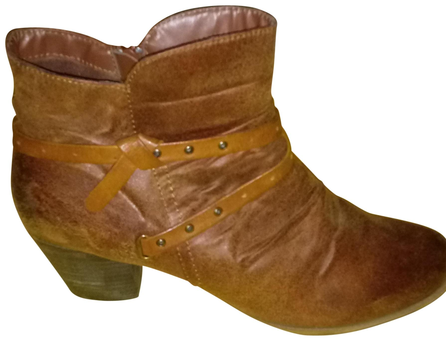 bare traps brown ankle boots booties size us 11 regular m