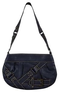 Barneys New York Womens Solid Leather Shoulder Bag