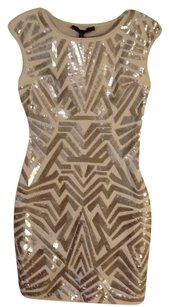 BCBGMAXAZRIA Evening Sequins Spandex Dress