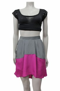BCBGeneration Hi Low Contrast Skirt Berry