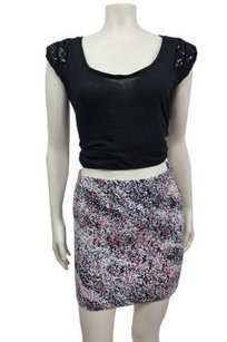 BCBGeneration Bcbg Berry Multi Bodycon Mini Stretch Mini Skirt Multi-Color