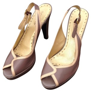 BCBGeneration Taupe & Butter Pumps