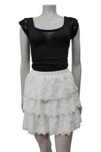 BCBGMAXAZRIA Justina Tiered Skirt White
