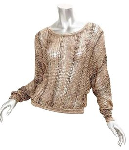 BCBGMAXAZRIA Gold Brown Sweater