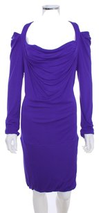 BCBGMAXAZRIA Cut-out Cutaway Tunic Evening Longsleeve Dress