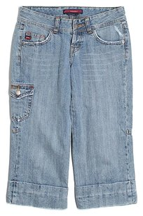 BCBGMAXAZRIA Low-rise Capri/Cropped Denim-Light Wash