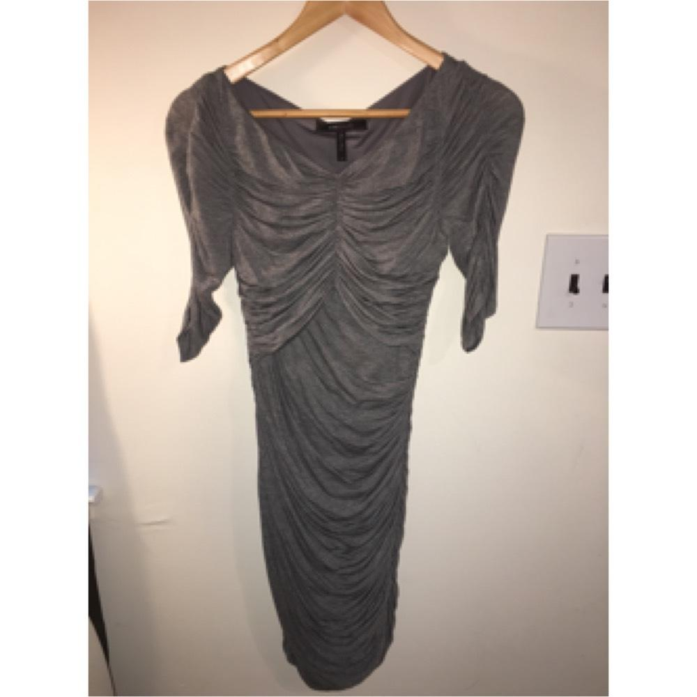 Bcbg gray maxi dress