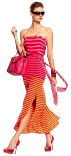 RED BRY-CERS COMBO Maxi Dress by BCBGMAXAZRIA
