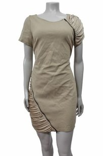 BCBGMAXAZRIA Ponti Knit Shirred Zipper Detail Style Onw6j536 Dress