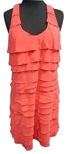 BCBGMAXAZRIA Coral Silk Dress
