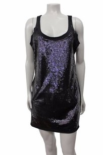 BCBGMAXAZRIA short dress Black Sequin Front French Terry Mini Lbd Awi15893 on Tradesy