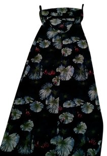 Navy Blue Print Maxi Dress by BCBGMAXAZRIA Strapless A Shape Colorful Empire