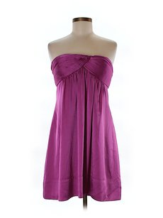 BCBGMAXAZRIA Strapless Empire Waist Satin Sweetheart Dress