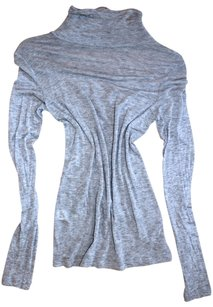 BCBGMAXAZRIA Winter Fall Turtleneck Top grey