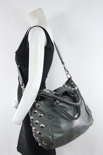 Be&D Bed Taupe Spiked Leather Hobo Bag