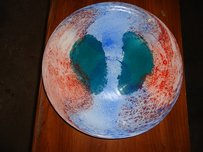 Beautiful Art Glass Serving Platter ~ Great For Dessert Table Or Gift!