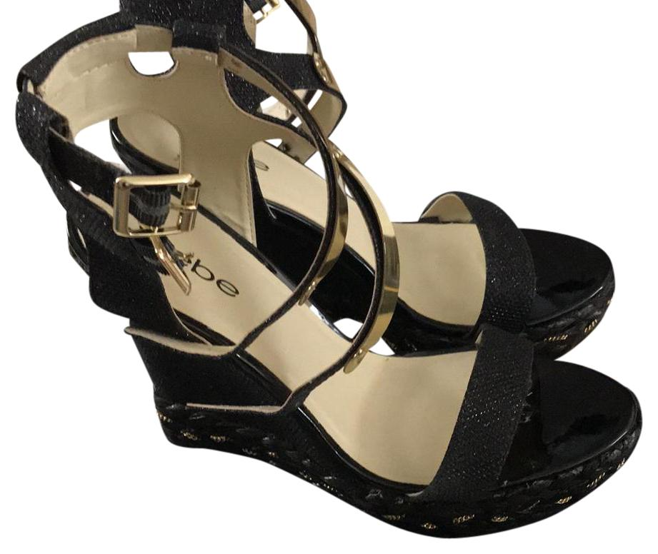 2a52664b6c56 bebe bebe bebe Black Wedges Size US 8 Regular (M