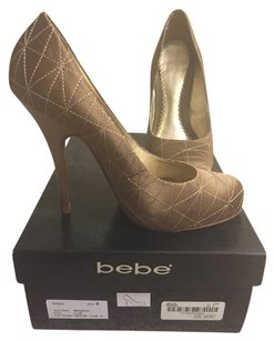 bebe Quilt Green Heel Car/evergreen Pumps