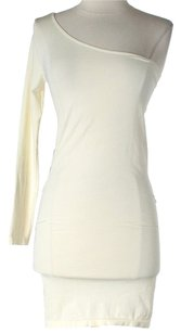 bebe short dress Ivory One Shoulder on Tradesy