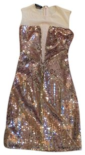 bebe Sequins Clubwear Trendy Dress