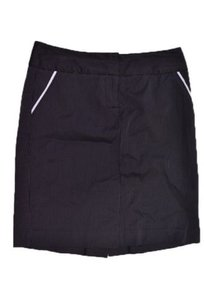 bebe Pinstriped Skirt Black White