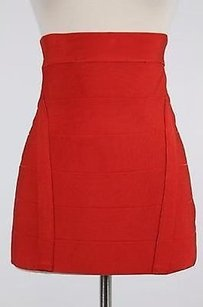 bebe Womens Solid Skirt Red