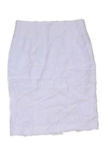 bebe Linen Blend Pencil Skirt White