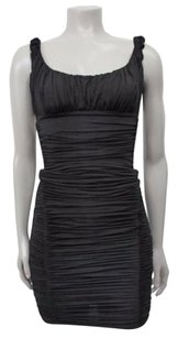 bebe Ruched Bodycon Sleeveless Lbd Dress