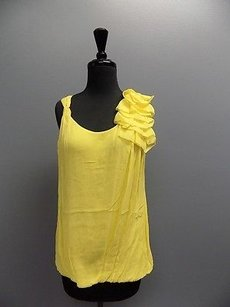 Bellatrix Sleeveless Ruffled Creped Sma12261 Top Yellow